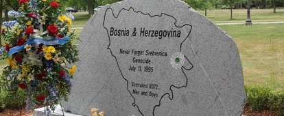 The first memorial in diaspora for the victims of the Srebrenica genocide, located in the City of Windsor, Ontario, Canada