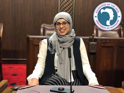 Muslimahs on Parliament Hill: Raghed Al-Areibi from Chatham-Kent—Leamington, Ontario