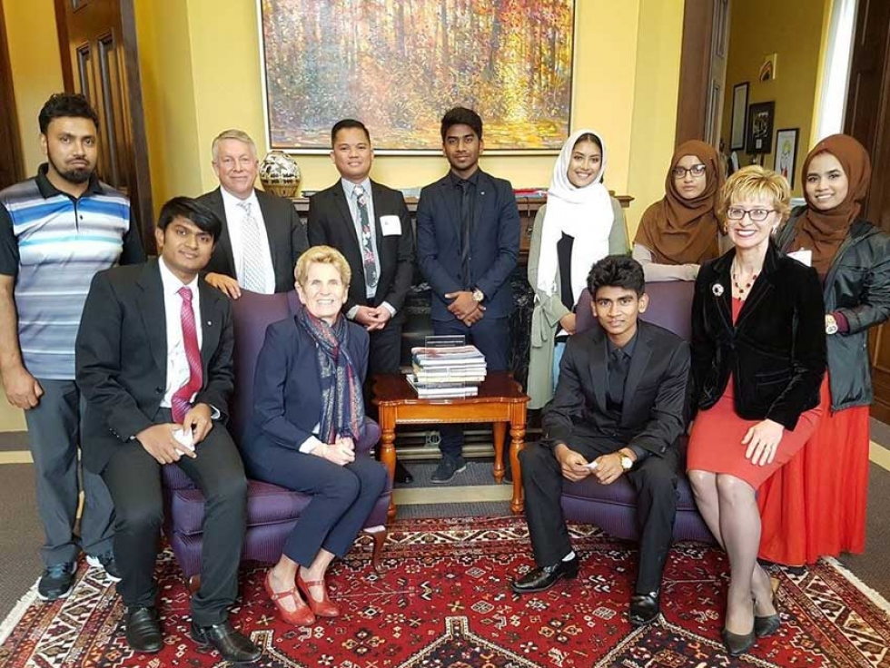 Rohingya Canadian youth meet with Premier Kathleen Wynne at Queens Park in Toronto in November.