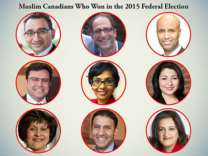 Muslim Canadians Who Won in the 2015 Federal Election