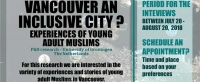 Vancouver, an Inclusive city?: Experiences of young adult Muslims: Looking for research participants
