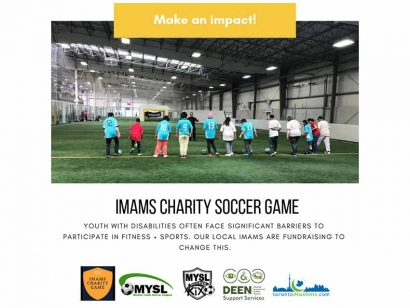 Toronto Area Imams Play Soccer to Fundraise for Sports for Youth with Disabilities
