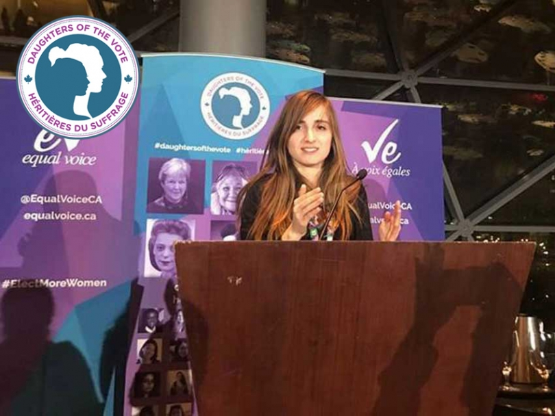 Rabia Abdeddaim represented the riding of Quebec at the Daughters of the Vote gathering in March.