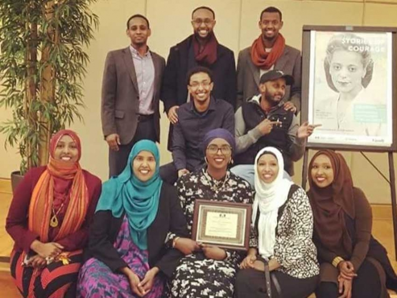 The Justice for Abdirahman Coalition team at the Black History Ottawa 2017 Launch in Ottawa