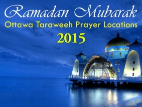 Ottawa Ramadan Taraweeh Prayer Locations 2015