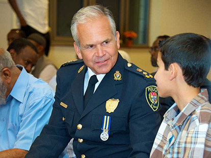 OPS Chief Bordeleau at Community Iftar Photo Credit: OPS
