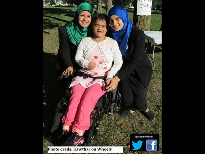 Narjes, Kawthar, and Lama Zeitoun at a recent Kawthar on Wheels fundraiser