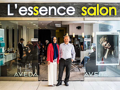 L'essence salon is the latest entrepreneurial adventure for Turkish Canadian couple Mustafa and Selma Elevli.