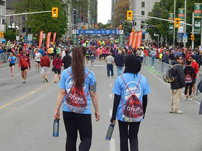 Seyma Uran and her friends ran the 5K and raised money for Islamic Relief Canada at the 2015 Ottawa Race Weekend.