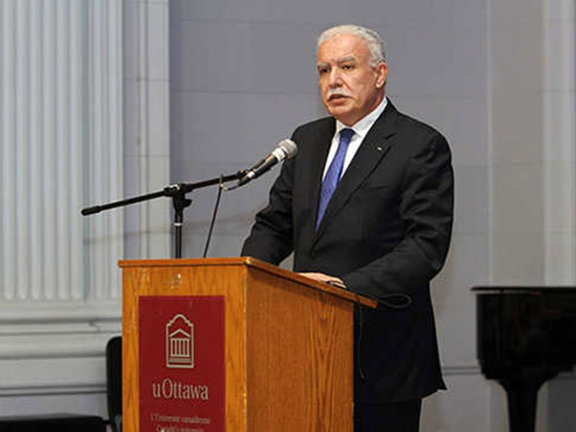 Palestinian Authority Foreign Affairs Minister Riad Malki at the University of Ottawa