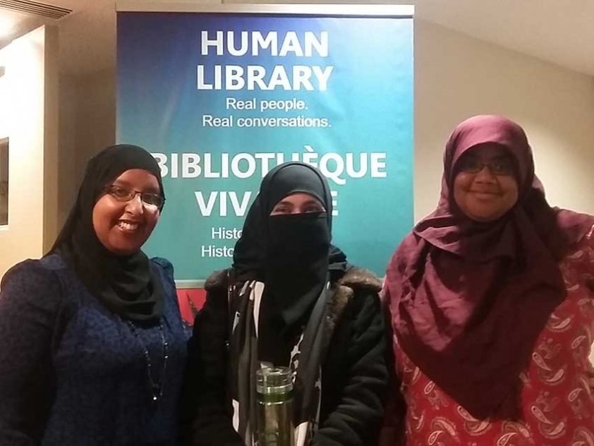 "Ottawa Muslims are participating in CBC and the Ottawa Public Library's annual Human Library. Hiba Yusuf, Mahwash Fatima, and Chelby Daigle will be ""books"" this year."