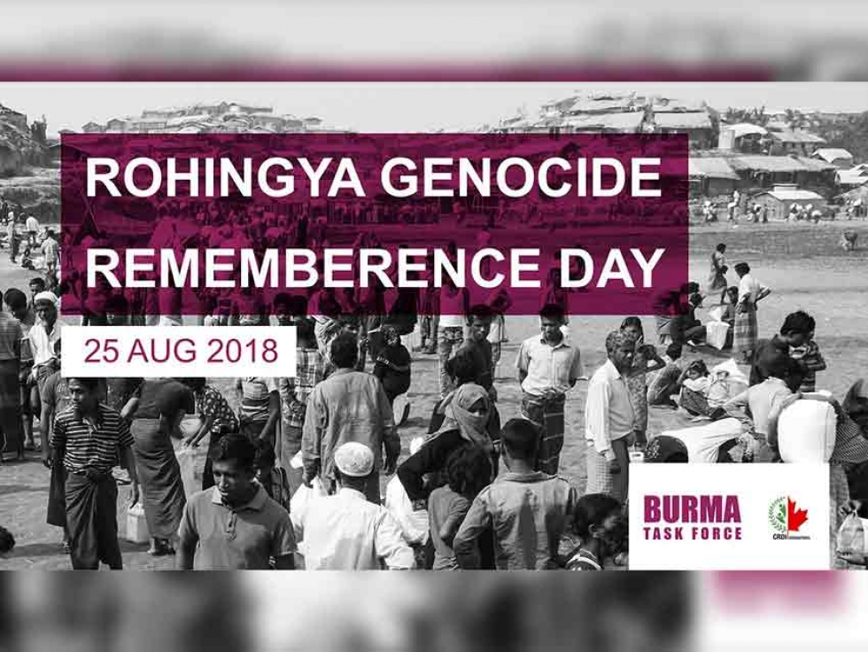 August 25 Marks Rohingya Genocide Remembrance Day Across Canada