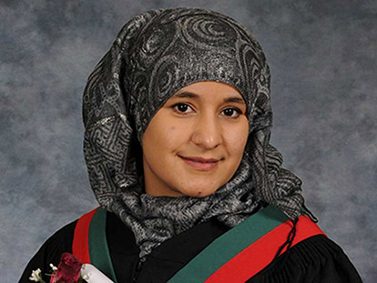 Roya Shams, 20, graduated from Ashbury College this year and will be attending the University of Ottawa in the Fall.