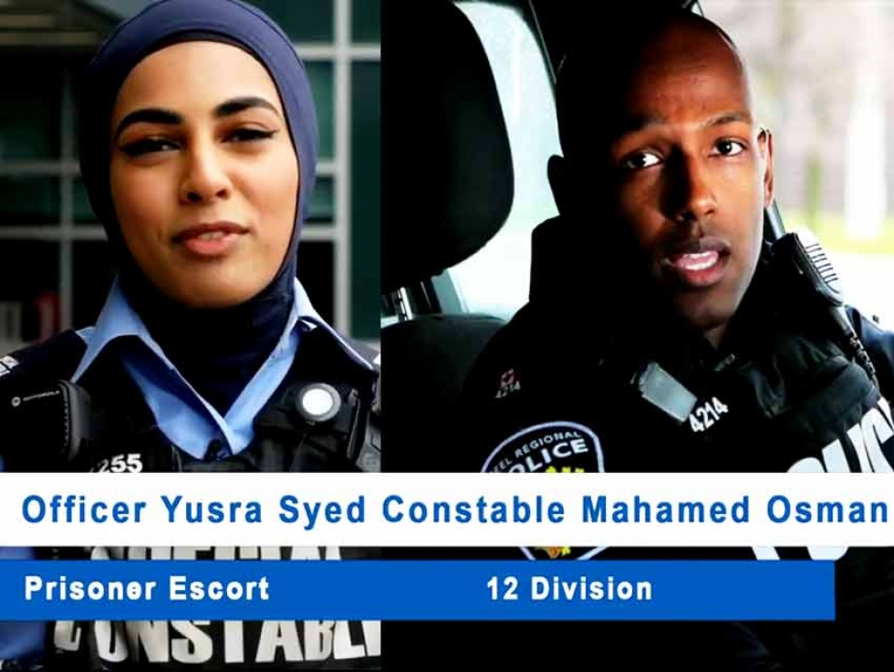 Special Constable Yusra Syed and Constable Mahamed Osman are featured in the Peel Regional Police video celebrating Ramadan.