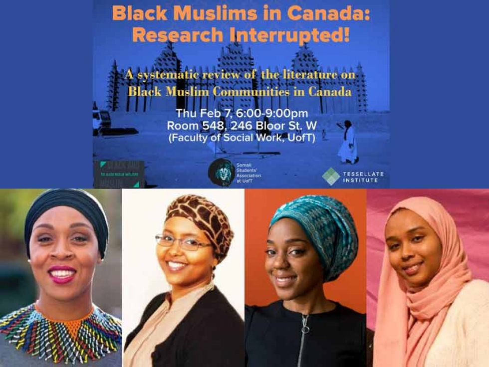 Check out Black Muslims in Canada: Research Interrupted This Thursday