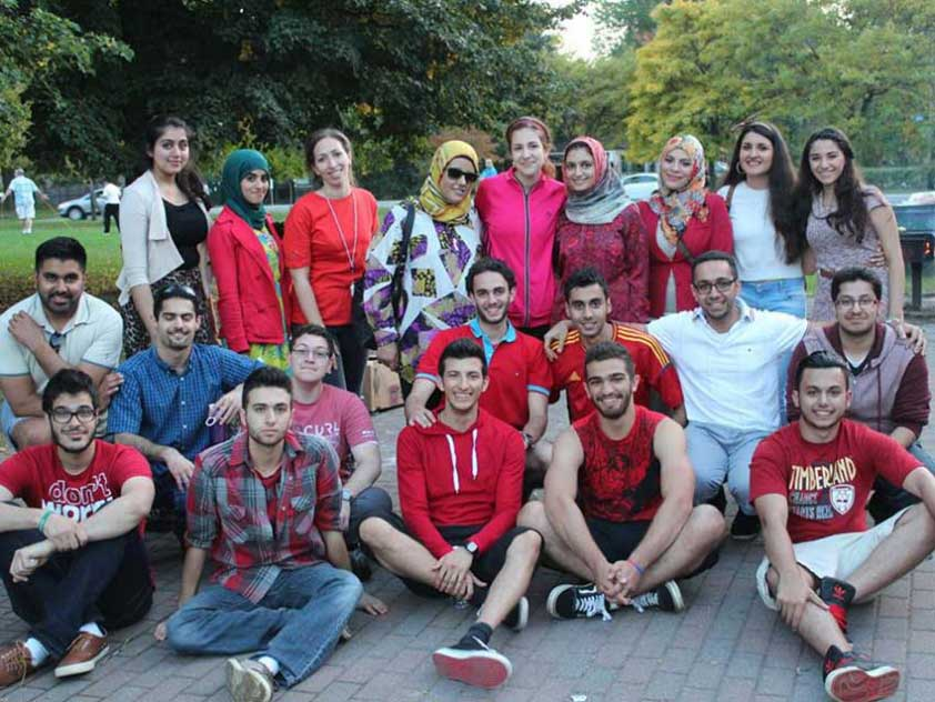Iraqi Student Association of Carleton University members and friends at the fundraising BBQ for Iraqi Refugees
