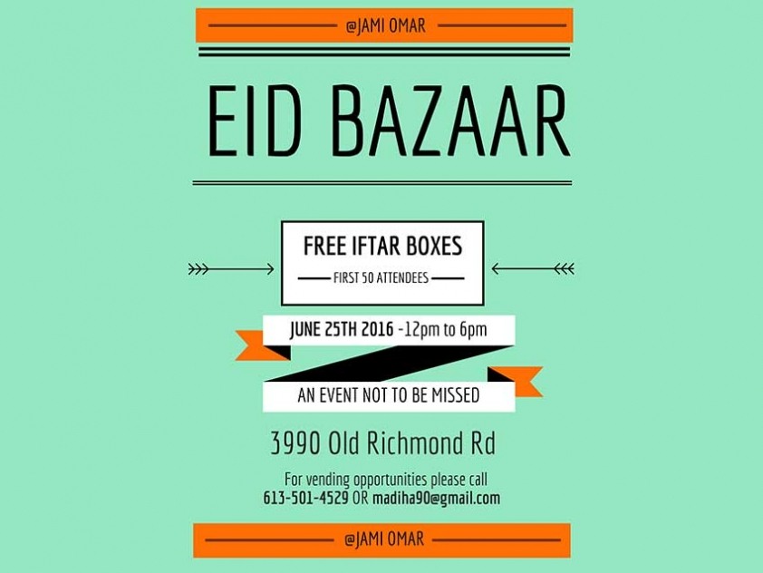 The Jami Omar Eid Bazaar takes place Saturday, June 25th. Muslim Link interviewed Madeha and Fariha Irshad, the two sisters who are trying to build the Bazaar into an annual community event.