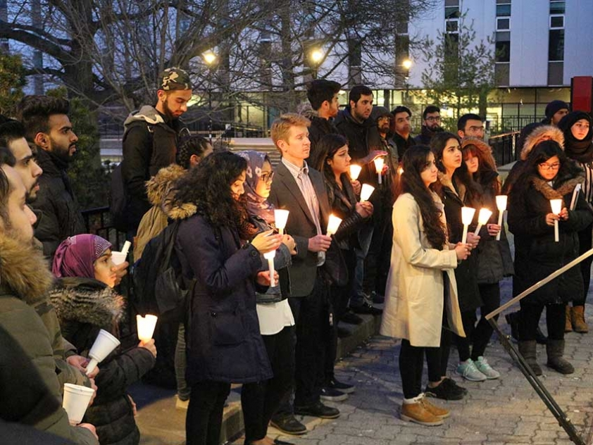Students gathered at Carleton University on March 29th to mourn the victims of the Lahore Attack over Easter Weekend