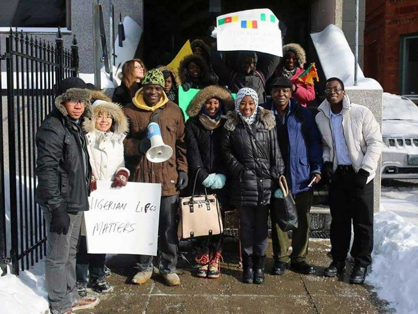 Students Halima Bello, Aissatou Bah, Virgile Kao and Victor Wilson organized a tribute to the victims of the Baga Massacre on January 30th.