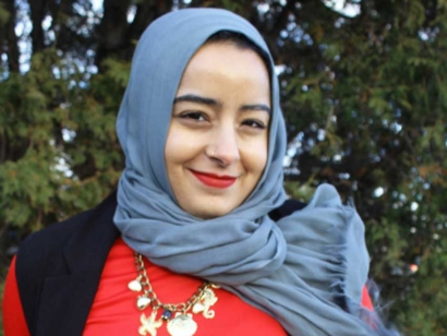 Iman Nakhala is a Montreal-based Muslim Canadian fashion designer.