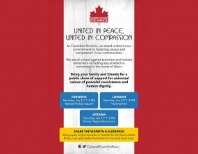 Ontario Muslims Gather for Peace on January 31st